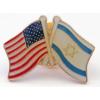 Collar Pin, Two-Flag