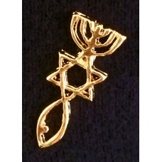 Messianic Roots Lapel Pin