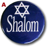 "Collar Pin, ""Shalom,"" Pro-Israel, Four (4)"