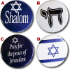 Collar Pin, Pro-Israel (all four)